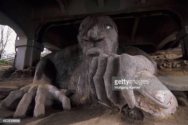 USA Washington Seattle Fremont Fremont Troll Under Bridge