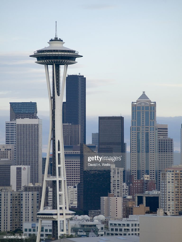USA, Washington, Seattle skyline with Space Needle : Foto stock