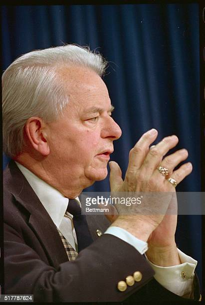 Senator Robert Byrd Democrat of West Virginia announces October 25th that he will oppose the confirmation of Supreme Court nominee Robert Bork