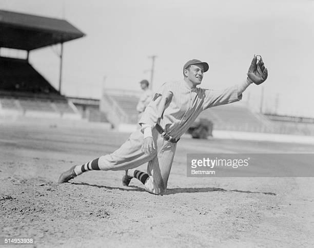 Washington Senators in Spring training at Tampa, Florida...Photo shows Joe Cronin, infielder.