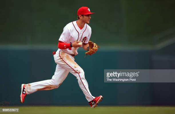 Washington shortstop Trea Turner as the Washington Nationals play the Miami Marlins in the 2017 season opener at Nationals Park in Washington DC...