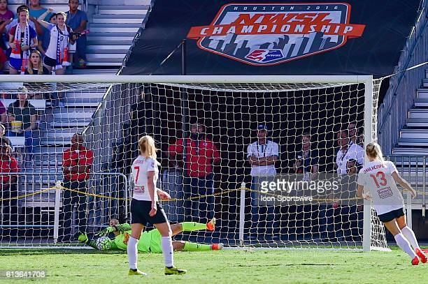 Washington Spirit goalkeeper Stephanie Labbé makes a first half save during the 2016 NWSL Championship soccer match between WNY Flash and Washington...