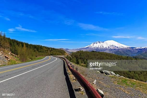 usa, washington, spirit lake highway, mount st. helens - mount st. helens - fotografias e filmes do acervo