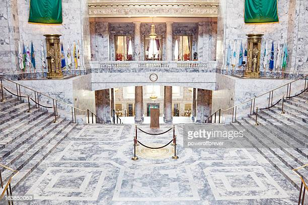 washington state capitol building - capital cities stock photos and pictures