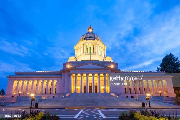 washington state capitol in olympia - washington state imagens e fotografias de stock