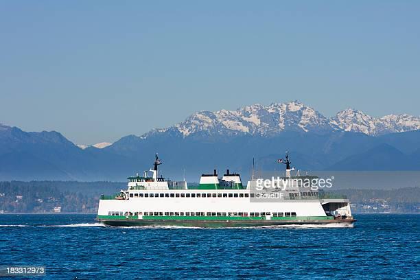 ferry de l'état de washington, sur le puget sound - ferry photos et images de collection