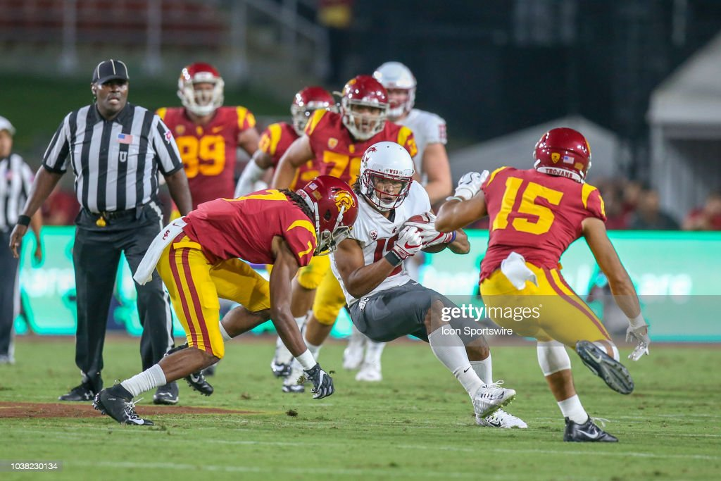 COLLEGE FOOTBALL: SEP 21 Washington State at USC : News Photo