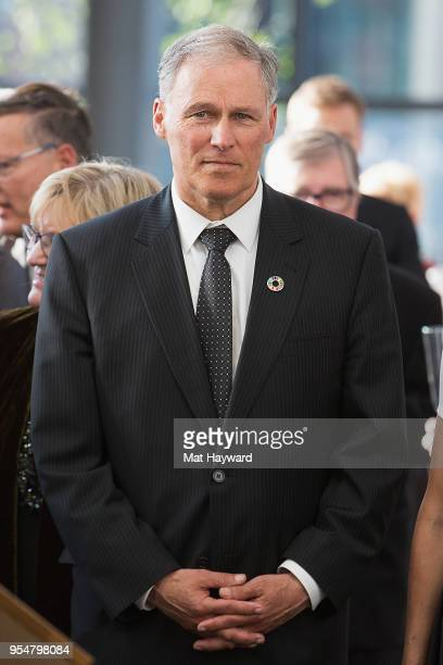 Washington State Governor Jay Inslee attends a Reception Gala at the Nordic Museum during the Denmark launch of a nationwide cultural campaign on May...