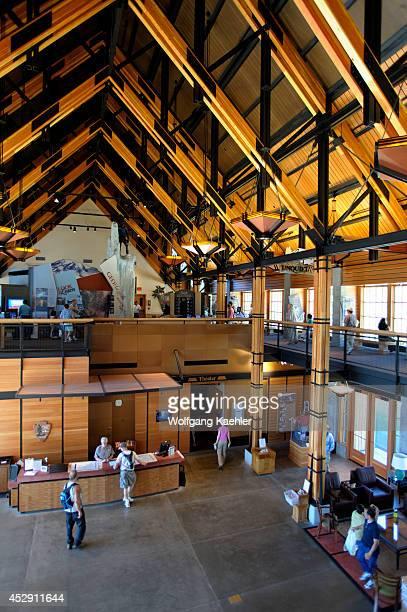 USA Washington State Mount Rainier National Park Paradise Henry M Jackson Memorial Visitor Center Interior
