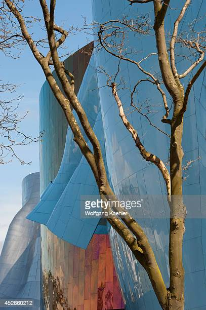 Washington State, Seattle Center, Experience Music Project, Designed By Frank O. Gehry, Trees.