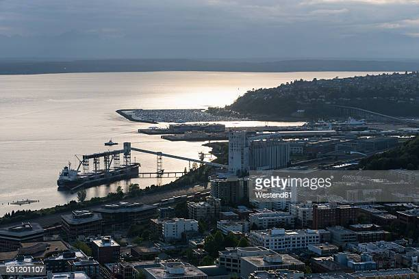 USA, Washington State, Seattle, Harbour, Louis Dreyfus Corporation, Terminal 86, Grain Wharf