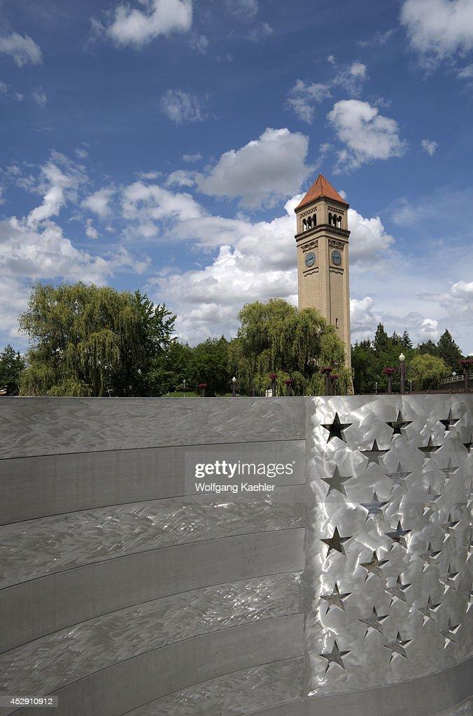 USA, Washington State, Spokane, Riverfront Park, Aluminum... : Fotografía de noticias