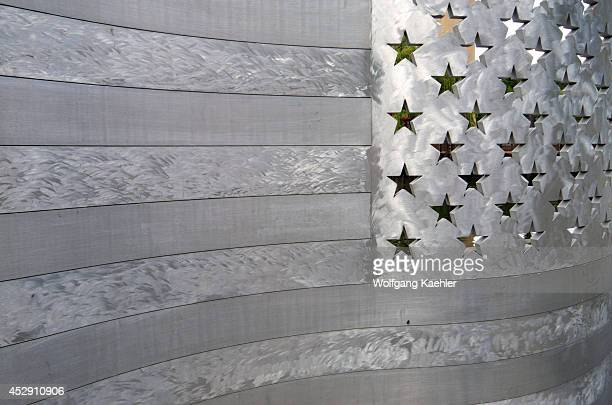 USA Washington State Spokane Riverfront Park Aluminum Bench Art