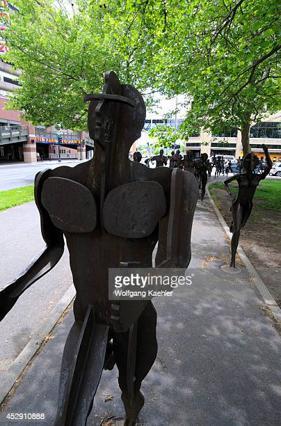 USA Washington State Spokane Riverfront Park Runners In The Park Sculpture