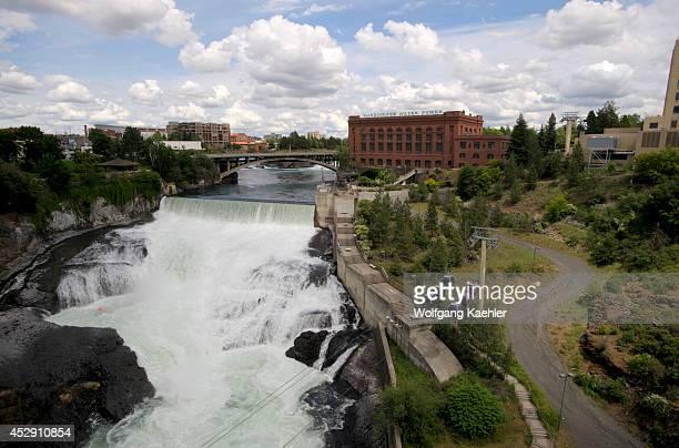 USA Washington State Spokane Riverfront Park Spokane River Spokane Falls Skyride