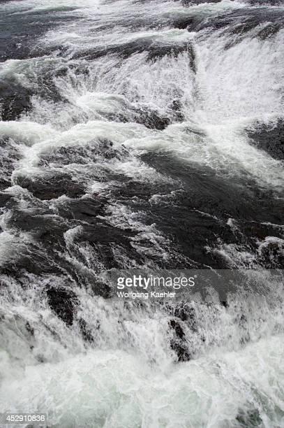 USA Washington State Spokane Spokane River Detail Of Spokane Falls