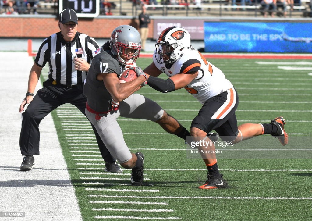 COLLEGE FOOTBALL: SEP 16 Oregon State at Washington State : News Photo
