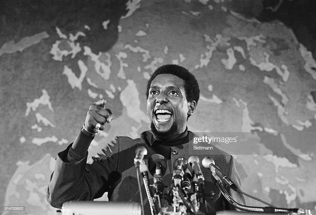 Stokely Carmichael Speaking at Civil Rights Rally : News Photo