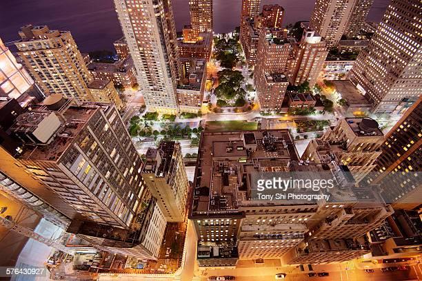 Washington street and West street Lower Manhattan