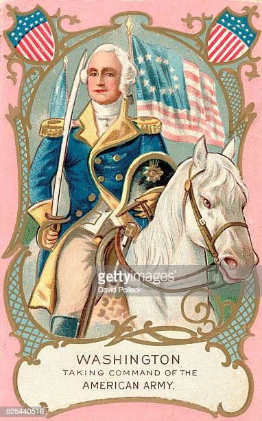 Washington Taking Command of the American Army Postcard