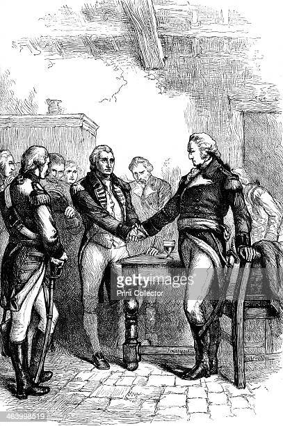 Washington taking leave of his old comrades 1783 With the independence of the Uniyed States secured by the Treaty of Paris George Washington said...