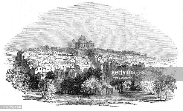 Washington - The Capitol, 1844. View of the Capitol Building in Washington DC, USA. 'A most disgraceful scene took place on the floor of the House of...