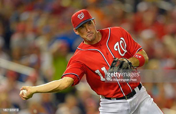 Washington third baseman Ryan Zimmerman during the Washington Nationals defeat of the New York Mets 6 5 at Nationals Stadium in Washington DC...