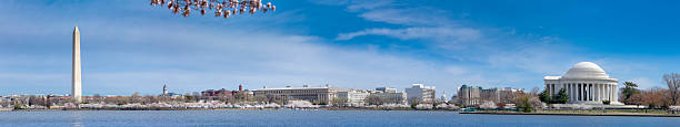 Washington Tidal Basin Panorama with Cherry Blossoms