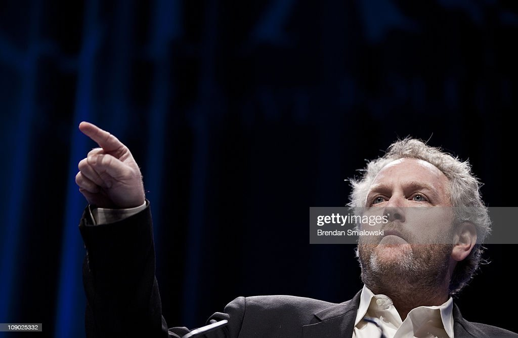 Washington Times commentator and Breitbart.com webmaster Andrew Breitbart speaks during the final day of the American Conservative Union's Conservative Political Action Conference (CPAC) February 12, 2011 in Washington, DC. Conservative political activists and potential political candidates gathered for the annual event to speak about politics, the current Congress and the upcoming 2012 presidential elections.