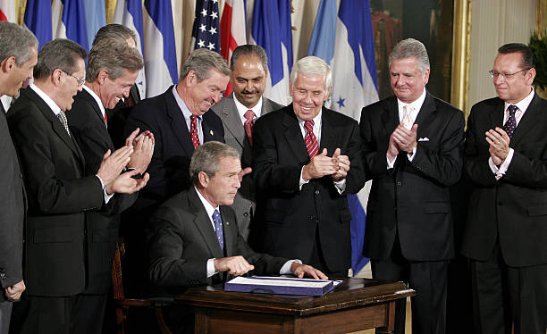President Bush Signs The Central American Free Trade Agreement
