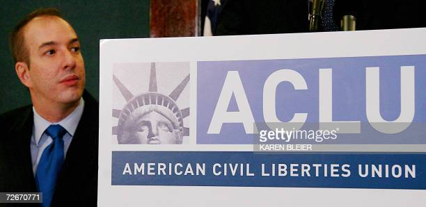 Anthony D Romero Executive Director American Civil Liberties Union attends a press conference for German national Khaled ElMasri 29 November 2006 at...