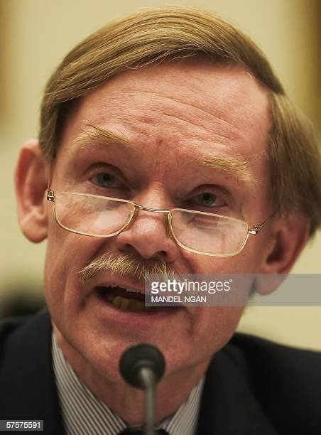 Deputy Secretary of State Robert Zoellick testifies before the House International Relations Committee on China's resurgence 10 May 2006 in the...