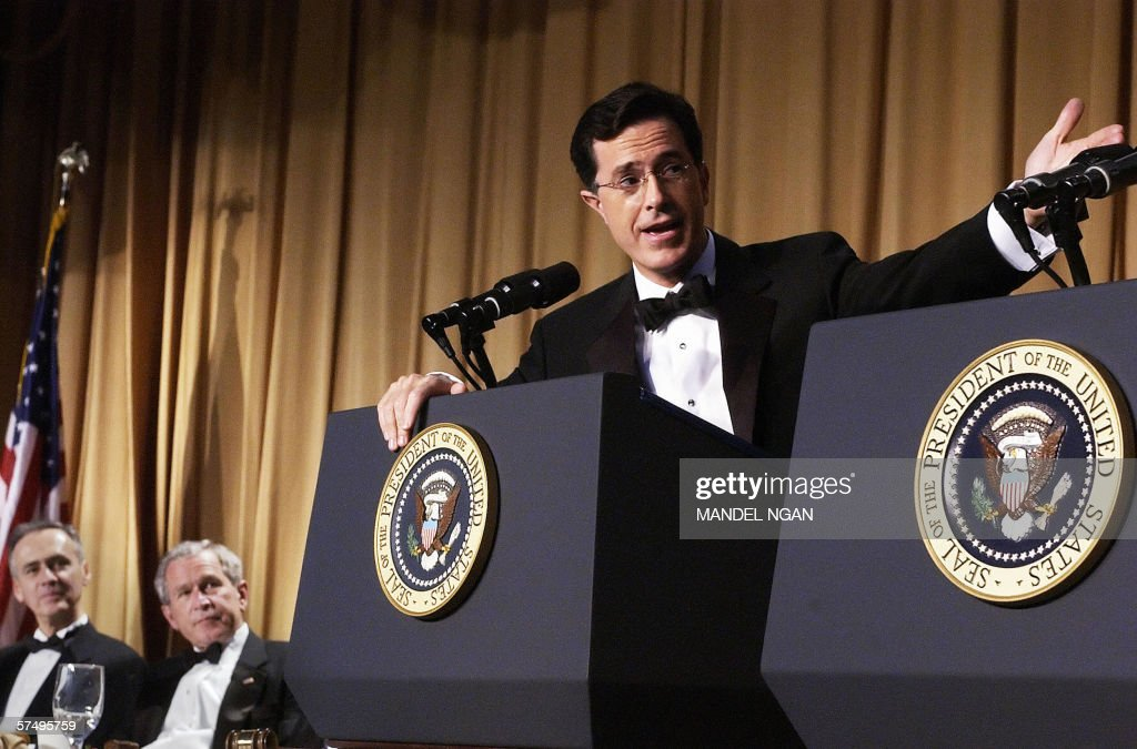 "Guest host Comedy Central's ""newsman"" St : News Photo"