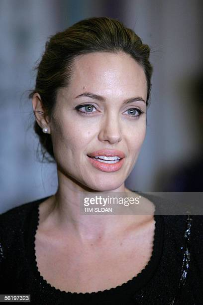 Hollywood Actress Angelina Jolie made an appearance at the US Capitol to meet with the Chairman of the Senate Foreign Relations Committee Senator...
