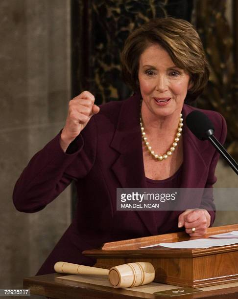 House Speaker Nancy Pelosi DCA speaks 04 January 2006 during 110th Congress Opening Day Ceremonies on Capitol Hill in Washington DC Democrats take...
