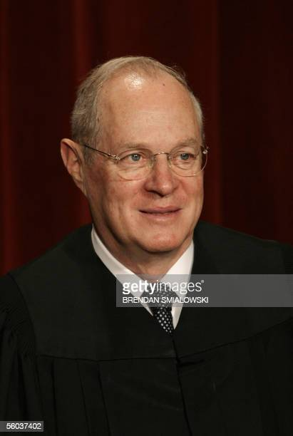 Justice Anthony Kennedy sits for a class photo at the Supreme Court 31 October 2005 in Washington DC The Justices sat for their picture for Chief...