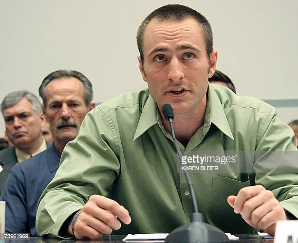 Kevin Tillman brother of Army Ranger Specialist Patrick Tillman testifies 24 April 2007 before the House Committee on Oversight and Government Reform...