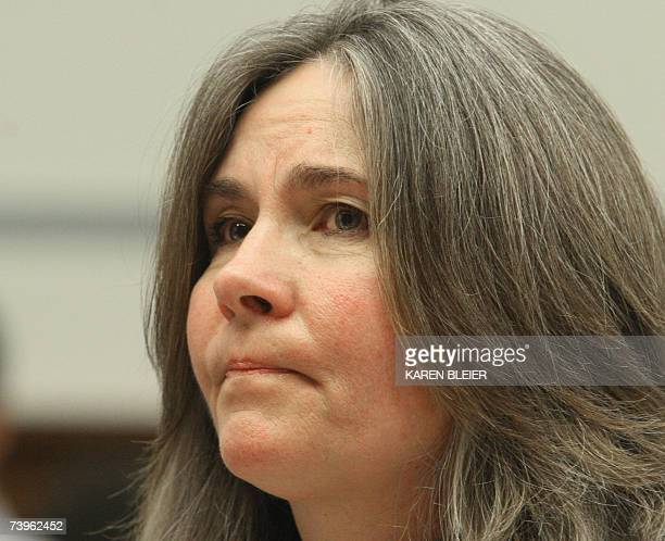 Mary Tillman mother of former football star Pat Tillman listens to a question as she testifies about Pat Tillman's death in battle at a hearing...