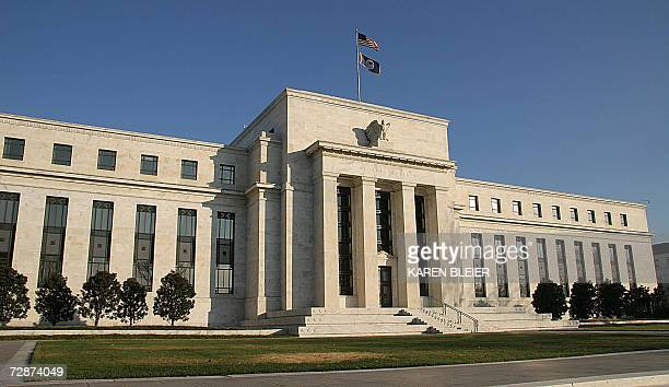Washington, UNITED STATES: The front of the US Federal Reserve building in Washington, DC is seen in this 24 December, 2006 photo. AFP PHOTO/Karen...