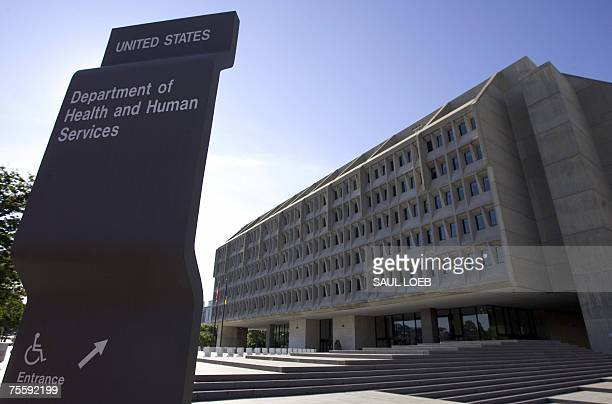 Washington, UNITED STATES: The US Department of Health and Human Services building is shown in Washington, DC, 21 July 2007. The department, which...