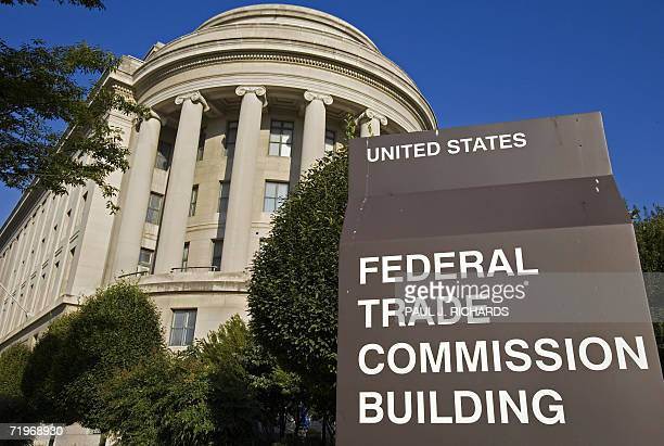 The US Federal Trade Commission building is seen 19 September 2006 in Washington DC US President Woodrow Wilson signed the FTC Act into law on 26...