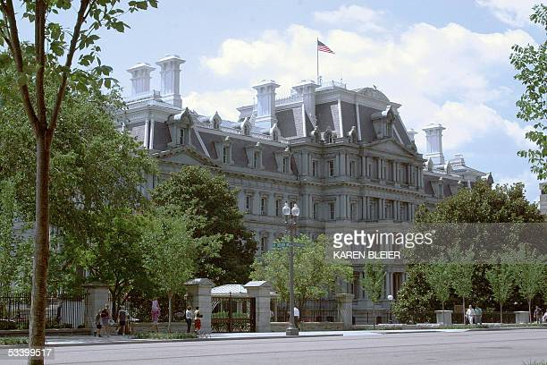 Washington, UNITED STATES: This photo shows the north facade of the Old Executive Office Building 17 August 2005 in Washington, DC. According to the...