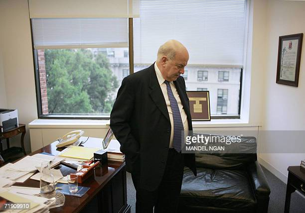 """Washington, UNITED STATES: TO GO WITH AFP STORY """"EEUU-OEA-ANDINOS"""" Organization of American States Secretary General Jose Miguel Insulza stands in..."""
