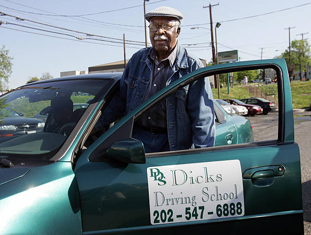 E H Fauntleroy Age 81 Gets Into A Rental Instructor Car To Retake