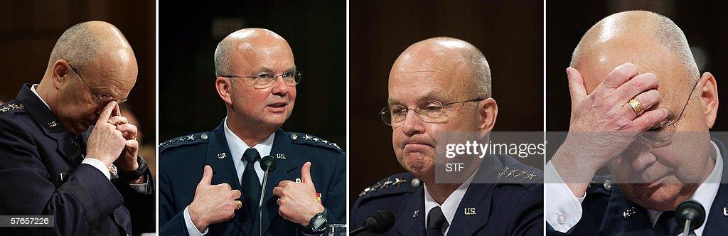 US Air Force General Michael Hayden testifies 18 May during his