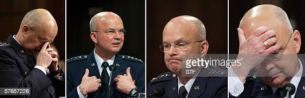 Washington, UNITED STATES: US Air Force General Michael Hayden testifies 18 May during his nomination hearing before the US Senate Intelligence...