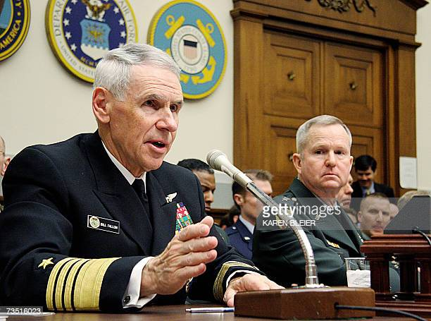 US Navy Admiral William J Fallon Commander US Pacific Command and US Army General Burwell B Bell III Commander Republic of Korea US Combined Forces...