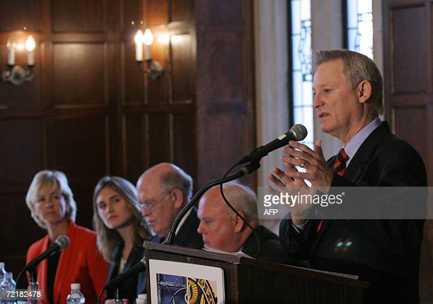 US Republican Representative from Alabama Spencer Bachus speaks at a press conference on World Food Day at Georgetown University in Washington 16...
