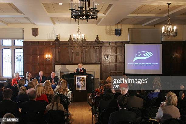 US Republican Representative from Alabama Spencer Bachus speaks at a press conference on World Food Day at Georgetown University in WashingtonDC 16...