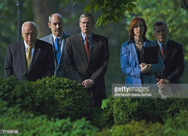 US Vice President Dick Cheney JD Crouch Deputy National Security Advisor National Security Advisor Stephen Hadley and Meghan O'Sullivan Special...
